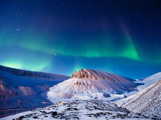 LIVING SUCCESS 3D--AURORA BOREALIS SVALBARD
