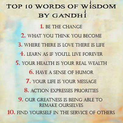 LIVING SUCCESS 3D--Top 10 words of wisdom by Gandhi